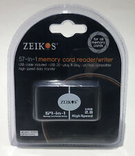 ZEIKOS 57-in-1 MEMORY CARD READER/WRITER with USB Cable - Plug & Play - PC/Mac