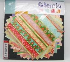 Papier japonais washi 10 feuilles 15x15cm Mix1 Scrapbooking Artemio Loisirs