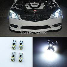 4x No errors 8-SMD LED Eyebrow Eyelid Lights Bulb For Benz W204 C350 AMG 2008-11
