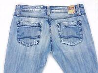 VIGOSS Chic & Moda Distressed Low Rise Boot Cut Jeans, Womens Size 29 (32x32)