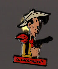 Pin's Lucky Luke / La vache qui rit (signé Dargaud Morris 91)