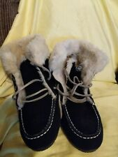 Natural Reflections® Women's Suede Slipper Booties size 8M
