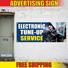 ELECTRONIC TUNE-UP SERVICE Advertising Banner Vinyl Mesh Decal Sign repair fix