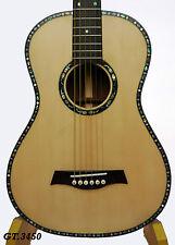 Kaytro-Rose Inlay-Solid Acacia Koa 6 Strings Handmade Parlor Guitar 3450