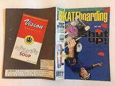 TRANSWORLD SKATEBOARDING SKATEBOARD MAGAZINE JULY 1991 UNDERHILL GONZALES LEE