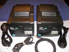 2 Star Star TSP143IIU POS Thermal Receipt Printer TSP100II USB Eco w AC Cord