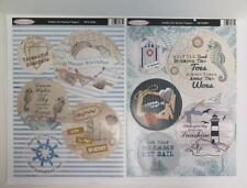 Debbi Moore Shabby Chic Nautical Die Cut Sentiments Card Toppers 4 Sheets JLH083