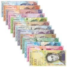 Venezuela Full Set 13 PCS, 2-100 500-20000 100000 Bolivares, 2007-2017,UNC