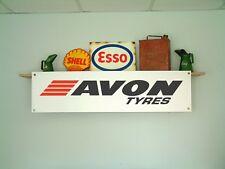 Avon Tyres Bannière garage atelier pneu montage baie PVC SIGNE. Pneu