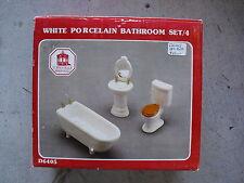Town Square Miniatures White Porcelain Bathroom Set MIB