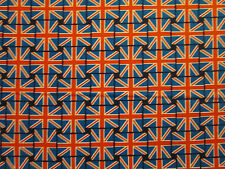 BRITISH UK FLAG SMALL LONDON COTTON FABRIC FQ