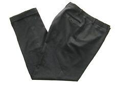 Trussini Pants Black Lana Bamberg Italian Size 54 Usa Size 34 Cuffed Legs