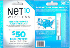 At&T Network Sim Card Dual Cut By Net10- Unlimited Everything -As Low As $35 Mo