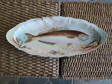 Hand Painted Vintage Fish Platter