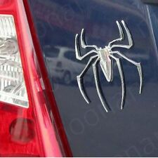 2X Metall 3D Spinne Spider Chrom Aufkleber Sticker Emblem Auto Fenster Body Logo