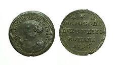 pcc1583_20) Pio VI (1774-1799)   Sampietrino 2 Baiocchi e 1/2 1796