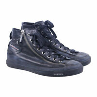 DIESEL Expo Zip W Womens Trainers Lace Up Sneakers Black Leather Shoes RRP-180