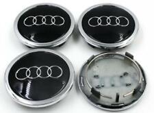 AUDI Black 4*69mm Wheel Cover Hub Center Caps Emblems Badges Logo 4B0601170A