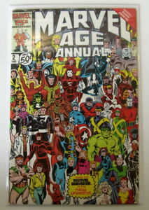 MARVEL COMICS - MARVEL AGE ANNUAL #2 EARLY APPEARANCE OF SILVER SABLE - 1985