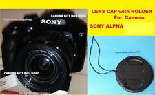LENS CAP DIRECTLY to CAMERA SONY Alpha NEX-5N (with your 18-55mm Lens)+HOLDER