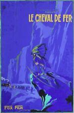 """LE CHEVAL DE FER (THE IRON HORSE)"" Maquette gouache entoilée 1924 John FORD"