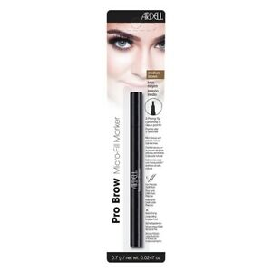 Ardell Pro Brow Micro-Fill Marker MEDIUM BROWN 2-Prong Tip Smudge Proof NEW