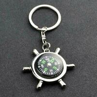 Zinc Alloy Compass Keychain Portable Camping Hiking Navigation Compass Tool H4R5