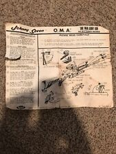 VINTAGE 1964 Johnny Seven OMA Toy OrIginal REPLACEMENT INSTRUCTIONS 6025-0001-C