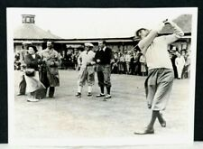 1937 Horton Smith, Driving at Carnoustie, Scotland at British Open, 7 x 9