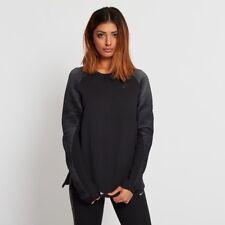 Nike Women's Tech Fleece Crew Felpa (Nero) - Large-NUOVO ~ 809537 010