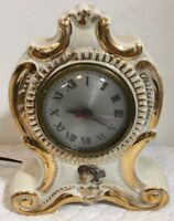 Vintage Victorian Oxford Metal Spinning Co. Ceramic Electric Clock