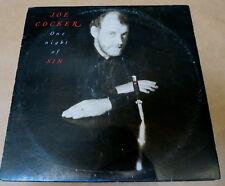 JOE COCKER * ONE NIGHT OF SIN * 33RPM LP RECORD LIBERATION RECORDS 1989