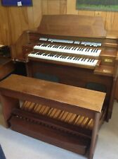 Vintage Tube Allen Organ W/ Foot Pedal Board & Bench, T12A / # 9285