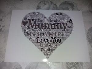 mummy in a million word art