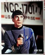 Leonard Nimoy STAR TREK AUTOGRAPH Classic Spock