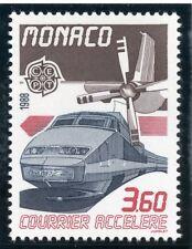 TIMBRE DE MONACO N° 1627 ** TRAIN / CHEMIN  DE FER / TGV