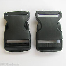 2 x 32mm Plastic Side Quick Release Clasp Buckles Webbing Strapping Bag Making