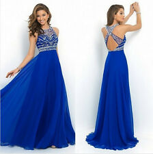 Summer Womens Sleeveless Long Chiffon Beach Ball Prom Gown Evening Party Dress