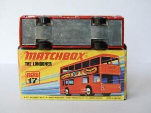 MATCHBOX SUPERFAST 17 LONDONER IMPEL 73 RARE UNPAINTED BASE DOUBLE DECK BUS MINT