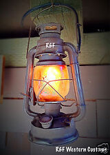 Small Vintage Style Electric Railroad Lantern w/ Flicker Bulb, by R&FWC