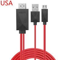 Micro USB 1080P HDMI HDTV AV TV Adapter Cable Cord For HTC ONE m7 m8 phone