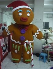Halloween New Gingerbread Man Mascot Costume Suits Adult Cosplay Party Outside