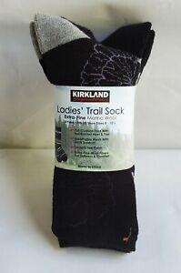 4 Pairs Kirkland Signature Women Ladies' Trail Extra-Fine Merino Wool Socks
