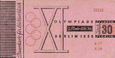 Olympic Games Olympische Spiele Berlin 1936 Eintrittskarte Ticket Dauerkarte