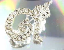 MEN BROOCH ATTACHED TIE/LAPEL SUIT CHEST SHIRT/KING # 9 THAILAND DIAMOND CRYSTAL