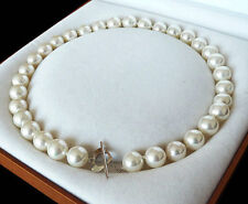 """new 12mm AAA+ White south sea shell pearl necklace 18"""""""