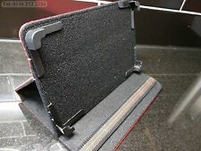 "Red 4 Corner Grab Multi Angle Case/Stand for 7"" VIA 8850 MID EPAD APAD Tablet"