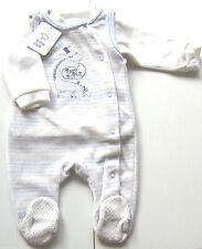 Nicki Strampler Set Gr.68 Baby Club NEU m.E Giraffe weiß blau shirt velour WSV
