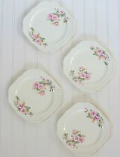 Vintage China Plate Collection Set of 4 Shabby Chic Blues Farmhouse Cottage #9