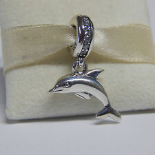 New Authentic Pandora Charm 791541CZ Dangle Playful Dolphin Box Included